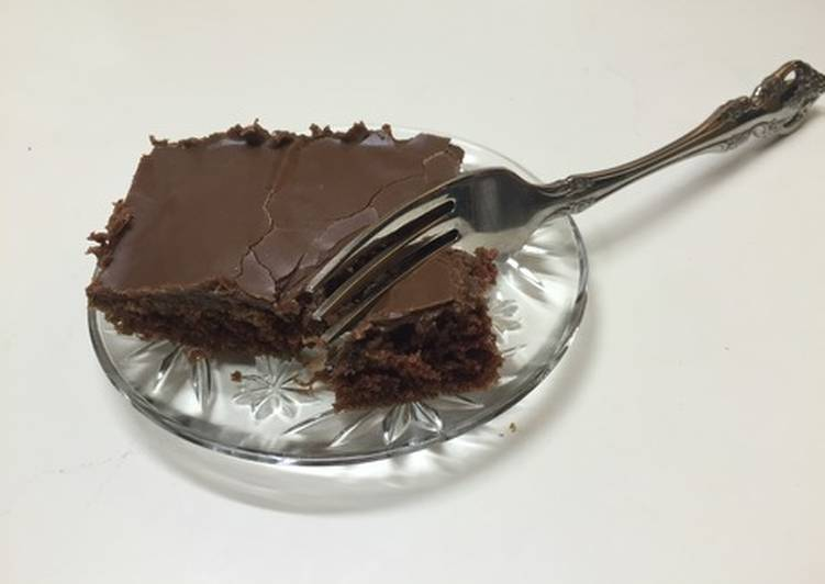 Easiest Way to Make Super Quick Homemade 30 Minute Chocolate Cake (Buttermilk Brownies)