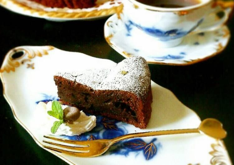 Recipe of Homemade Slightly Sweetened Chocolate Gateau
