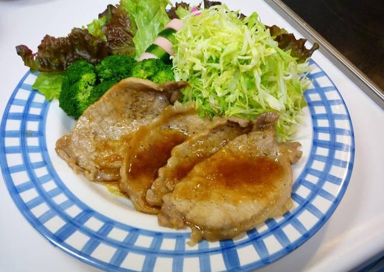 Recipe of Speedy So Good!! Super Popular Pan Fried Ginger Pork
