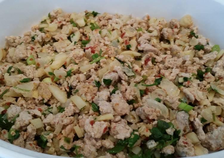 Thai lettuce wraps with ground pork