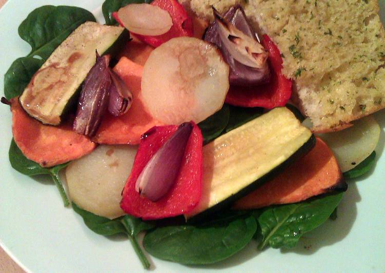 How to Make Tasty Vickys Roasted Vegetable Stacks with Ciabatta, GF DF EF SF NF