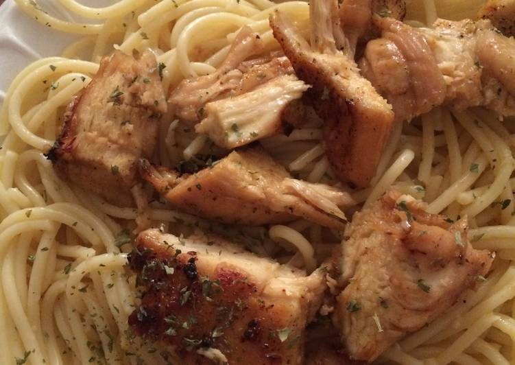 Sweet N Spicy Chicken with Garlic Butter Noodles