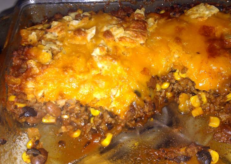 10 Minute Step-by-Step Guide to Make Super Quick Homemade Easy Taco casserole