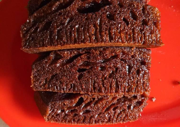 cara mengolah Bolu Karamel Kukus (Sarang Semut) Anti Gagal - Sajian Dapur Bunda