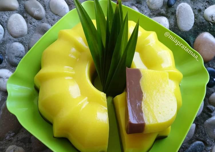 Pudding Jagung Coklat Rasa Stroberi