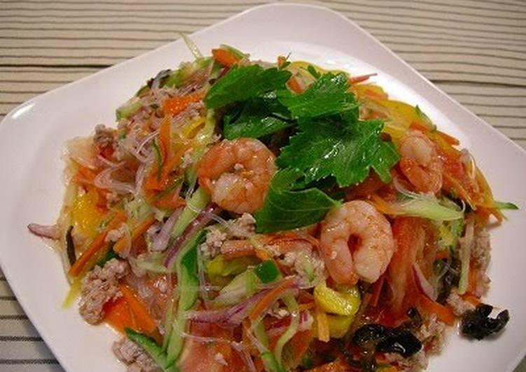 Recipe: Perfect Yum Woon Sen (Thai Cellophane Noodle Salad)