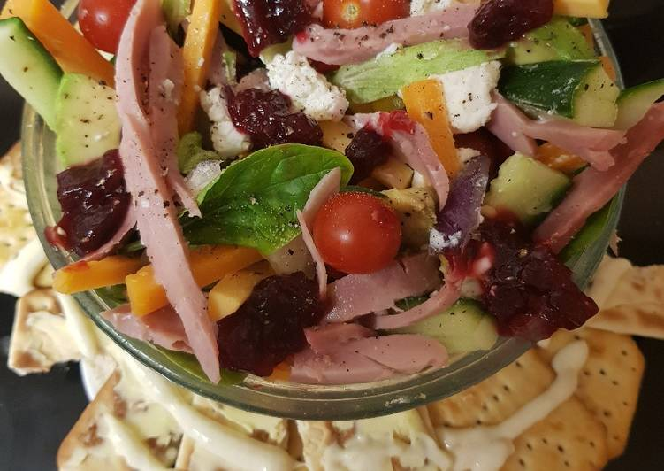 Top 100 Dinner Ideas Royal My After Christmas 3 Cheese & Ham Salad to Share. 😉