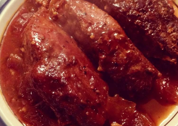 Easiest Way to Make Homemade Bourbon BBQ Pork Ribs (crockpot)
