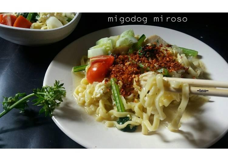 Migodog miroso / Mie Godhog / Mie Kuah Jawa