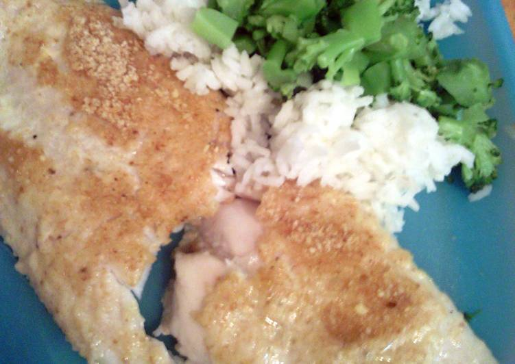 healthy parm breaded fillettes