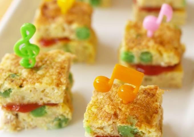 Tuna Tamagoyaki Omelette Sandwiches