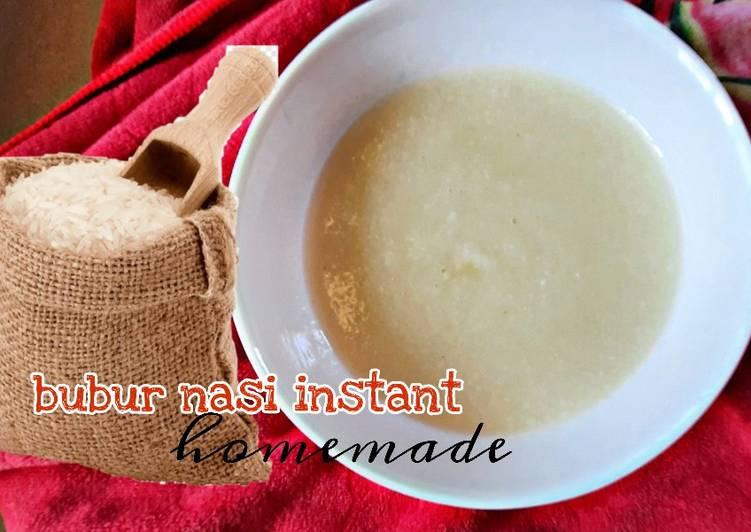Bubur nasi instant 5 minit homemade - resepipouler.com