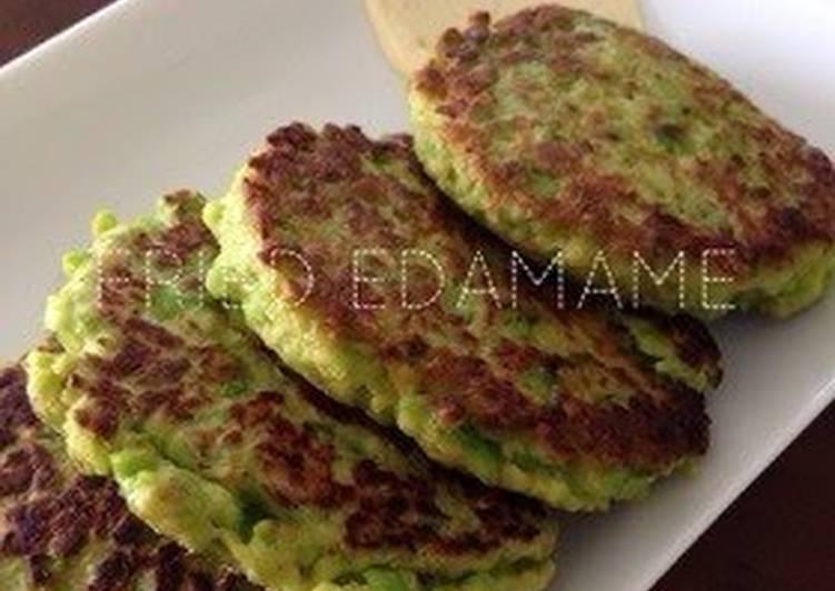 Large Pan-Fried Edamame Patties