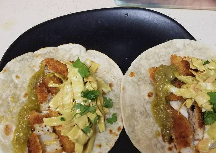 Grandmother's Dinner Easy Fall Quick fried fish tacos