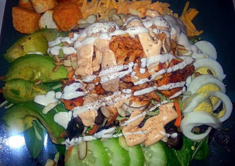 Easiest Way to Make Perfect Chipotle Ranch Grilled Chicken Salad