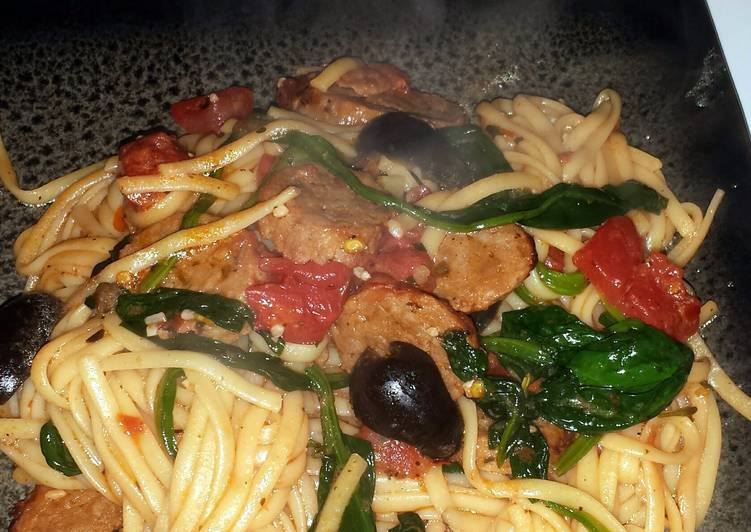 Steps to Prepare Award-winning 20 mins to heaven (Sausage and Pasta)