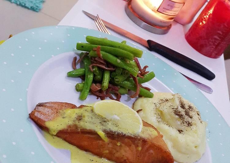 Salmon panggang lebih enak dari pada di resto