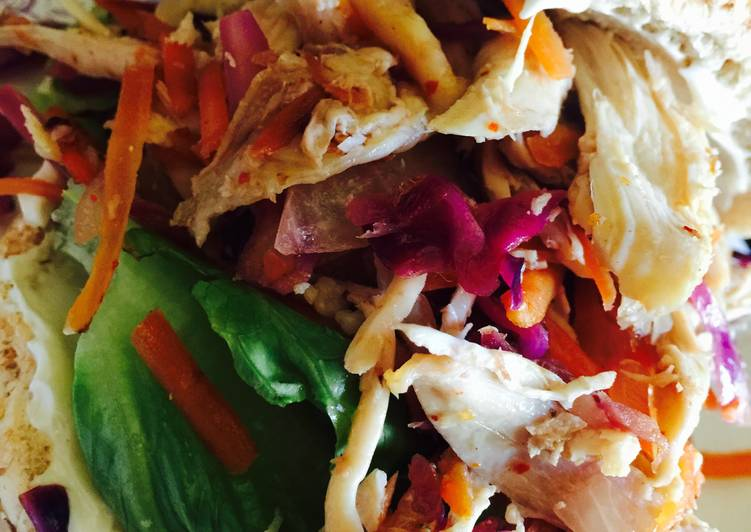 Use Food to Improve Your Mood Chicken Slaw Sandwich