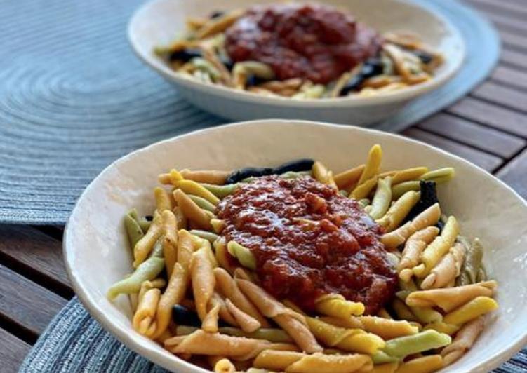 Pasta Italiana Con Salsa De Tomate Casera Receta De