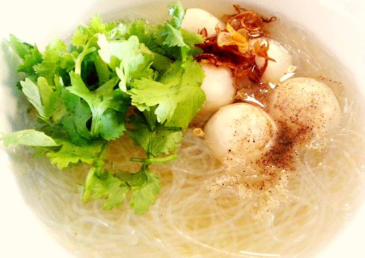 Recipe: Tasty Winter vermicelli in fish ball soup