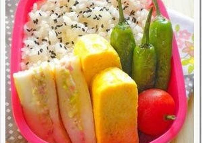 For Bentos and Drinking Appetizers: Hanpen Sandwiches