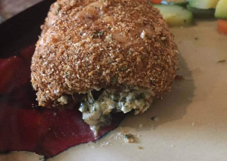 Spinach Dip Stuffed Cajun Chicken Breast