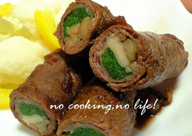 How to Prepare Speedy Chrysanthemum Green Beef Wraps
