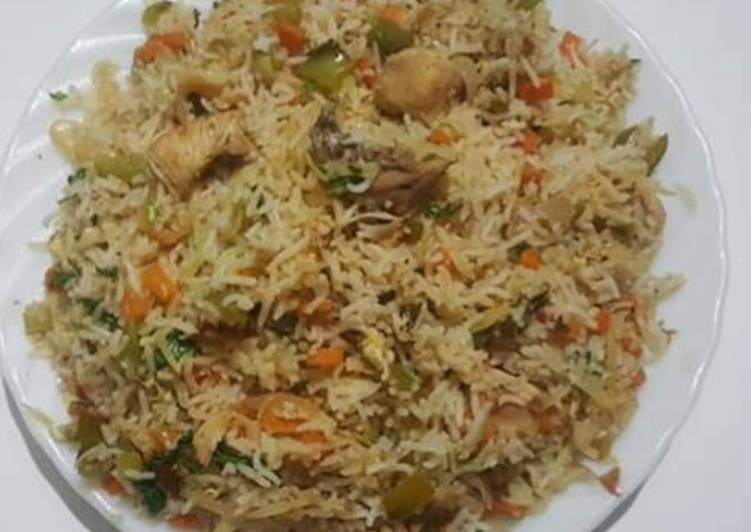 Chicken Vegetable Pulao Recipe By Riz Shah Cookpad