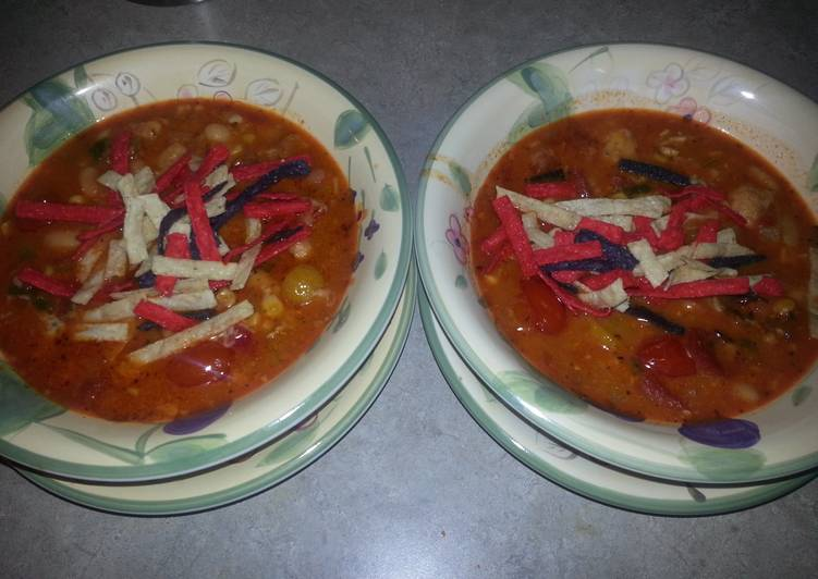 Easiest Way to Make Any-night-of-the-week Chicken tortilla soup