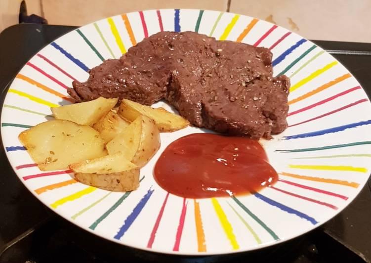 Tenderloin steak ala rumahan