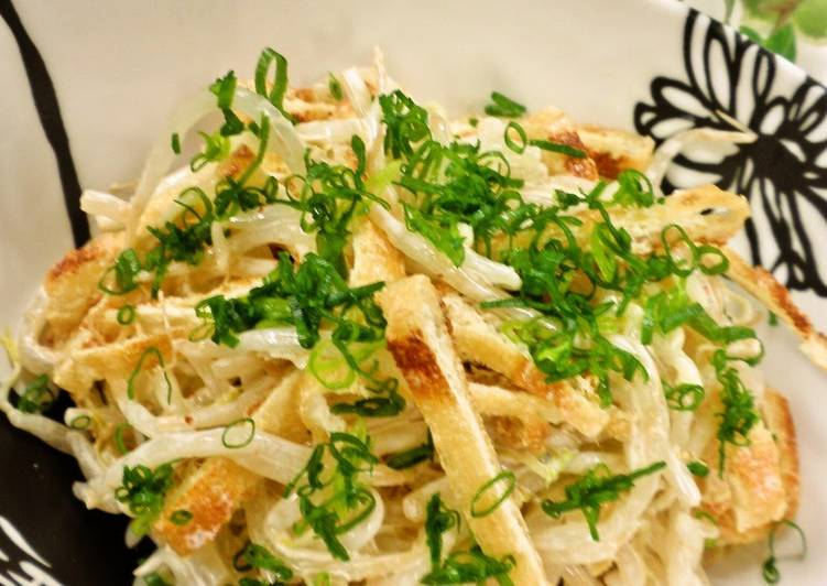Bean Sprout and Aburaage Salad with Yuzu Pepper Dressing