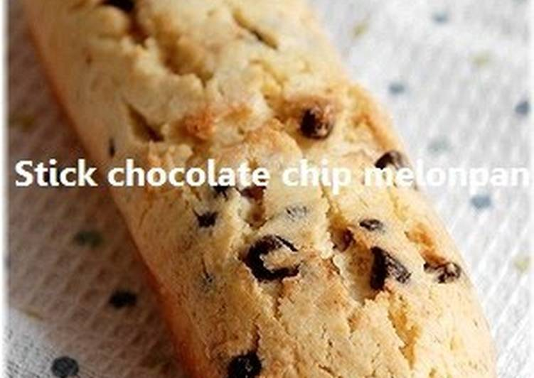 How to Prepare Speedy Stick-Shaped Chocolate Chip Melon Bread