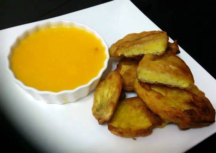 Beer Batter Sweet Potato With Orange Sauce