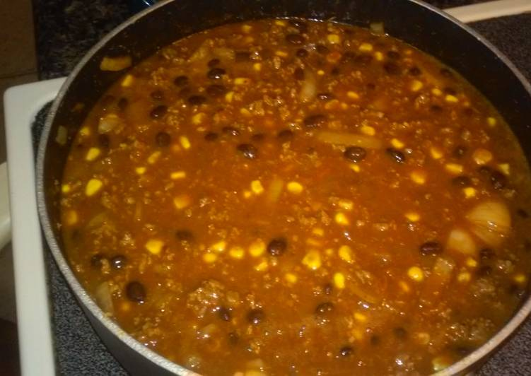 Black Bean and Corn Chilli, Help Your Heart with Food