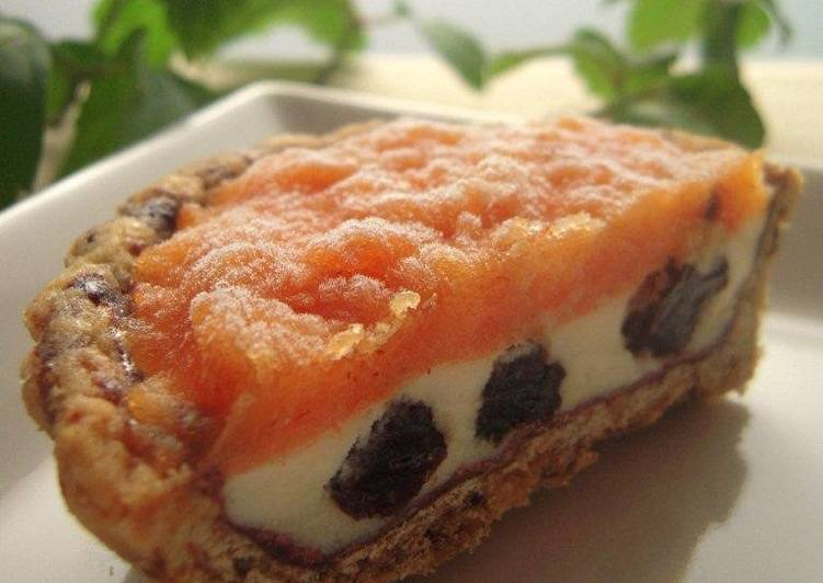 Recipe of Homemade Ice Cream Tart With Grown-up Persimmon Flavor