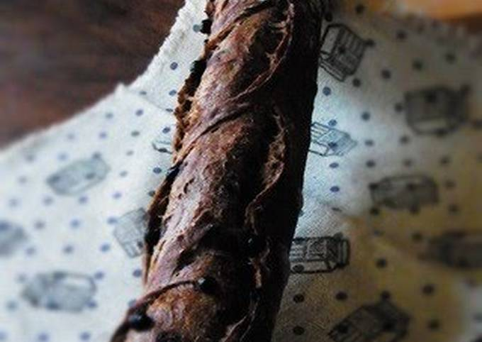 Recipe: Tasty Black Baguette (Homemade Sourdough Starter Version)