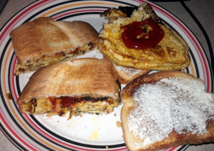 omlet on toast