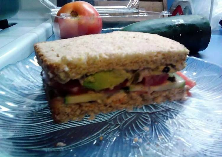 Cucumber, Avocado &  Tomato Sandwich