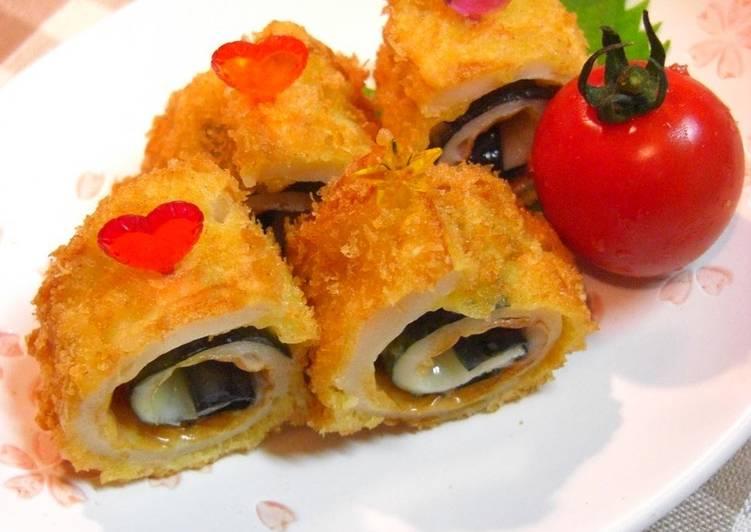 Deep Fried Chikuwa Fish Stick, Nori Seaweed and Cheese