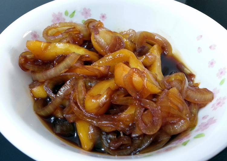 Recipe: Appetizing Jackfruit And Onion In Teriyaki  Sauce