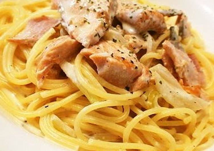 Simple Way to Make Homemade Rich Creamy Salmon Pasta