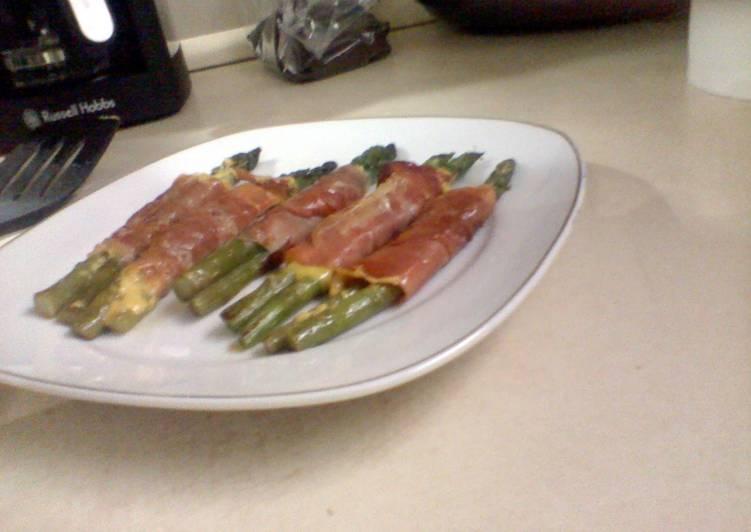 Recipe: Tasty Delicious Asparagus in a prosciutto blanketl