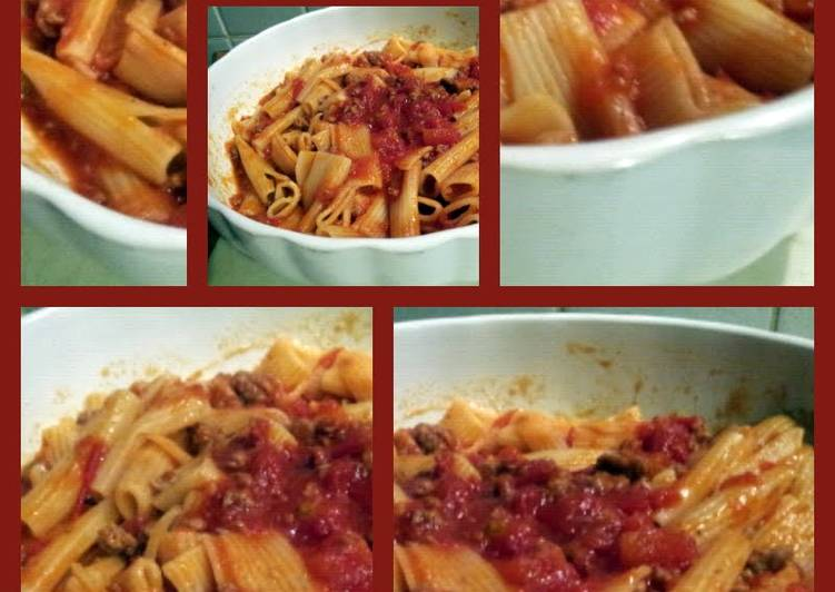AMIEs PASTA with Sausage & Spicy Tomatoe Sauce