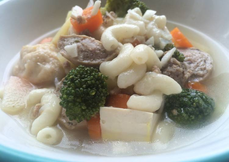 Sup Macaroni Campur Sari