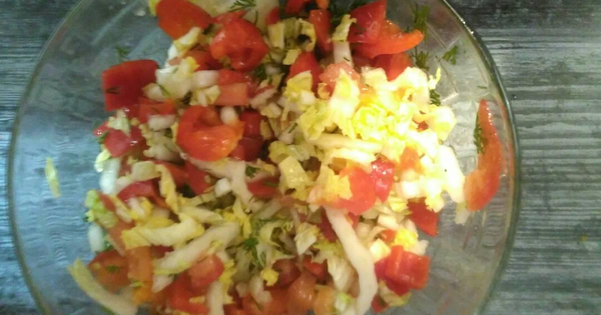 Салат из капусты с перцем - 2 251 пошаговый рецепт с фото