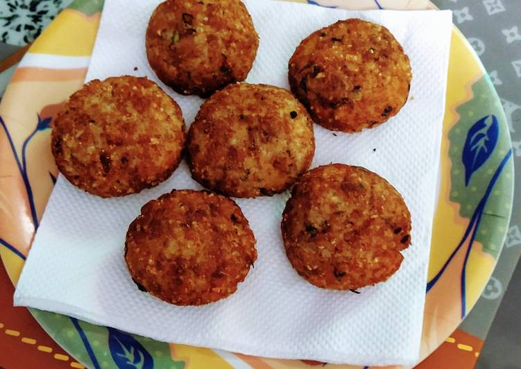 Crispy cutlets recipe with leftover rice and bread crumbs