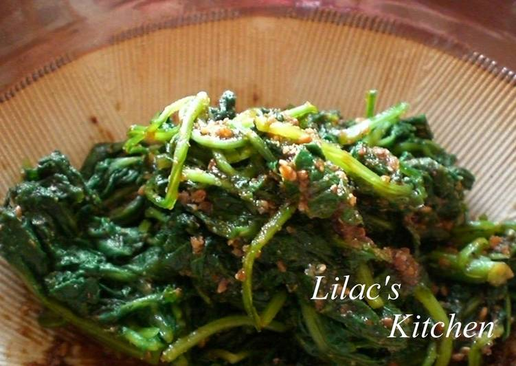 Radish Leaves with Sesame Dressing - Laurie G Edwards
