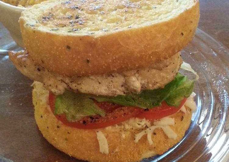 Steps to Make Homemade Garlic toast chicken sandwich