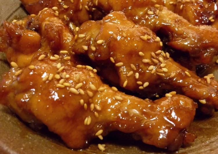 Refreshing, Sweet & Savory Simmered Chicken Drumettes