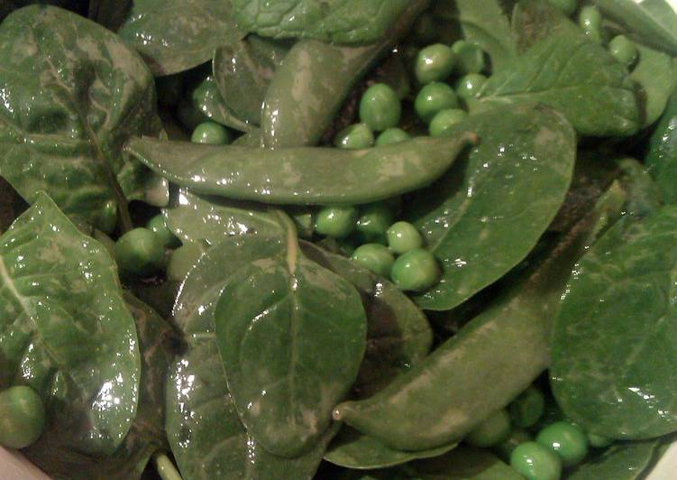 Vickys Pea, Mint & Spinach Salad with Dressing, Gluten, Dairy, Egg, Soy & Nuy-Free